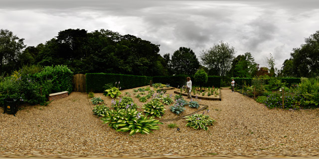 Barnsdale Gardens – Penstemon and Hosta Beds 360° Panorama