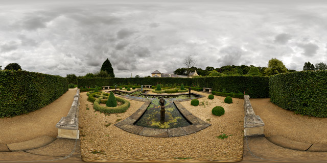 Barnsdale Gardens – Formal Pond & Knot Garden 360° Panorama