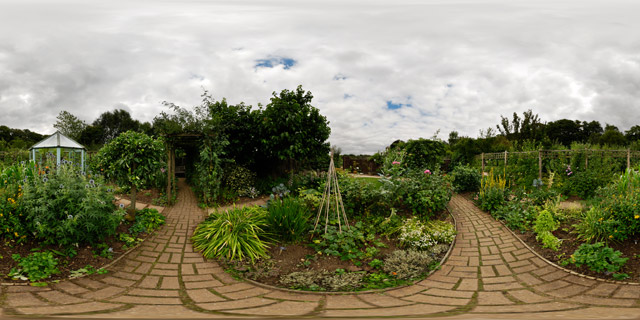 Barnsdale Gardens – Ornamental Kitchen Garden 360° Panorama