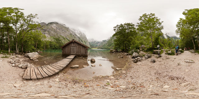 Boat house at west shore of Obersee 360° Panorama
