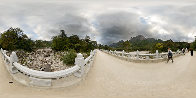 Bridge near Sinheungsa Temple, Seoraksan National Park 360° Panorama