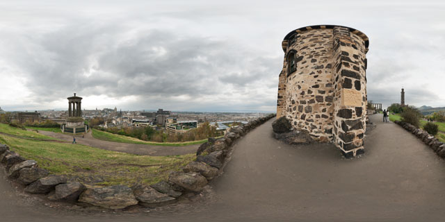 Calton Hill, Edinburgh 360° Panorama