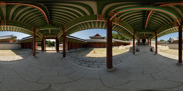 Changdeokgung palace – Bokdogak and Seonjeongjeon 360° Panorama