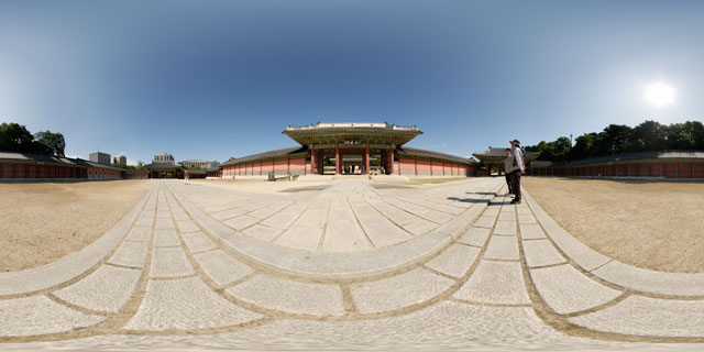 Changdeokgung palace – Injeong outer courtyard 360° Panorama
