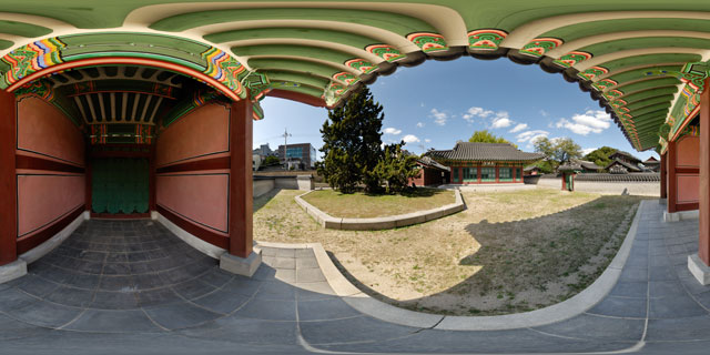 Changdeokgung palace – Unhanmun and Bongmodang 360° Panorama