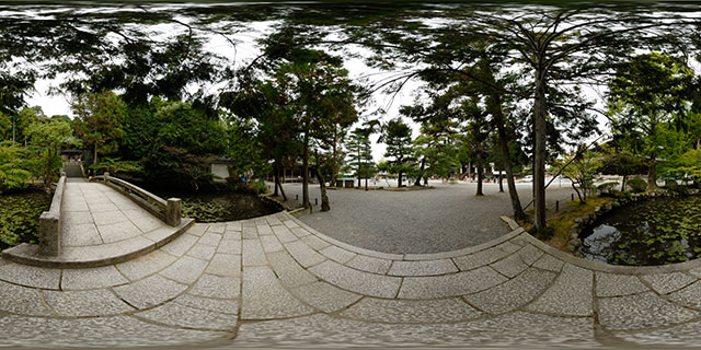 Chion-in Temple – Bridge over pond near Nokotsu-do 360° Panorama