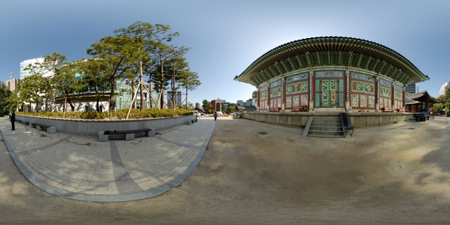 Daeungjeon, Jogyesa temple 360° Panorama