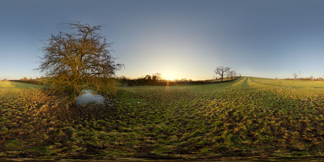 East Farndon Field at Sunset 360° Panorama