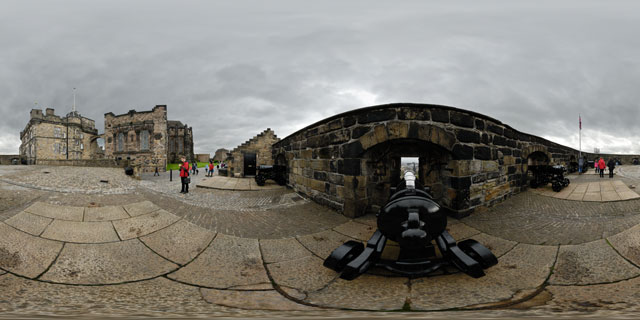 Edinburgh Castle – Half-Moon Battery 360° Panorama