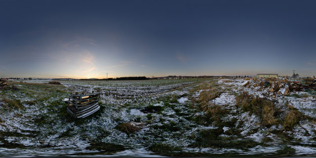 Farndon Fields Development in the Snow 2 360° Panorama
