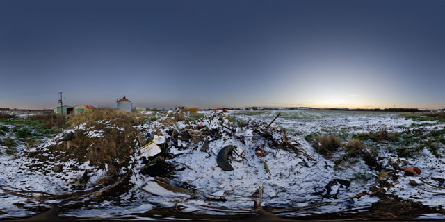 Farndon Fields Development in the Snow 3 360° Panorama