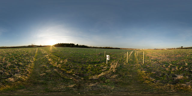Farndon Fields footpath 360° Panorama