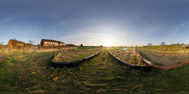 Farndon Fields Jan 2012 (I) 360° Panorama