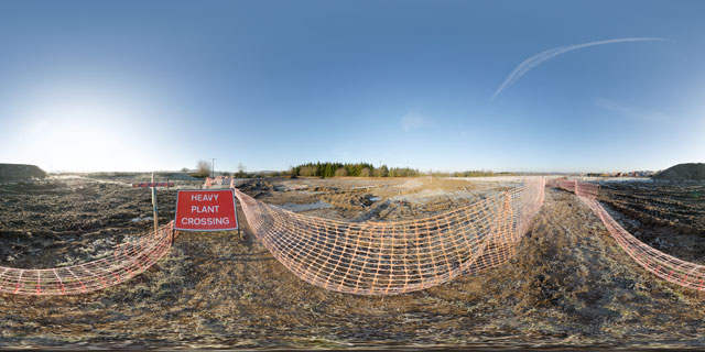 Farndon Fields Jan 2012 (VIII) 360° Panorama