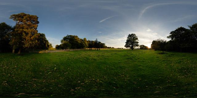 Field by Thorpe Lubenham Hall 360° Panorama