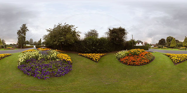 Flower displays at Welland Park Summer 2012 360° Panorama