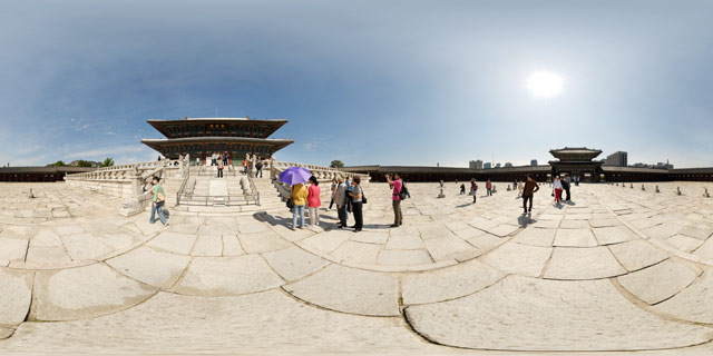 Front of Geunjeongjeon Hall 360° Panorama