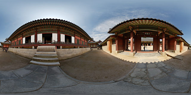 Gangnyeongjeon Hall and Yanguimun Gate 360° Panorama