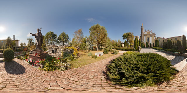 Garden of the Cathedral of Saints Peter and Paul, Kamyanets-Podilsky 360° Panorama
