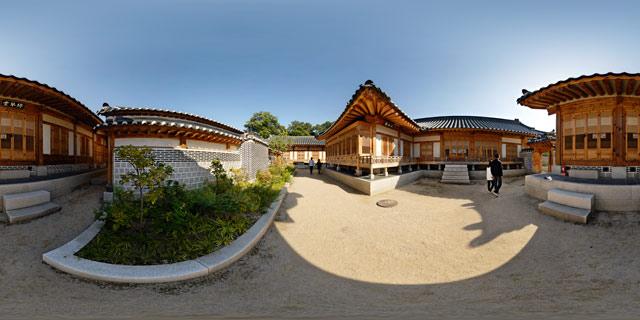Geoncheonggung residence – Jeongsihap and Nokgeumdang 360° Panorama