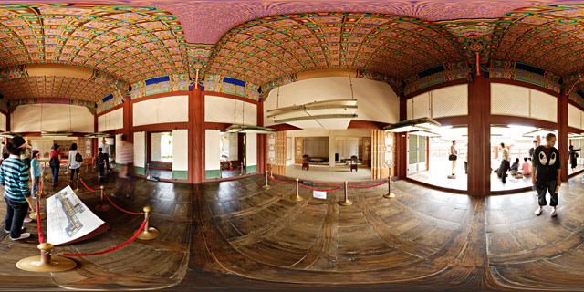 Gyotaejeon Hall interior 360° Panorama
