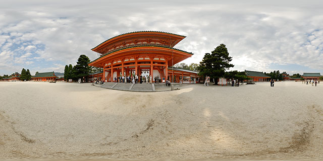 Heian Jingu Shrine, Kyoto 360° Panorama