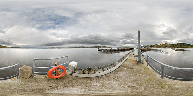 Jetty at Clachnaharry Sea Lock, Inverness 360° Panorama