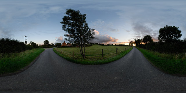 Lubenham Road at twilight 1 360° Panorama