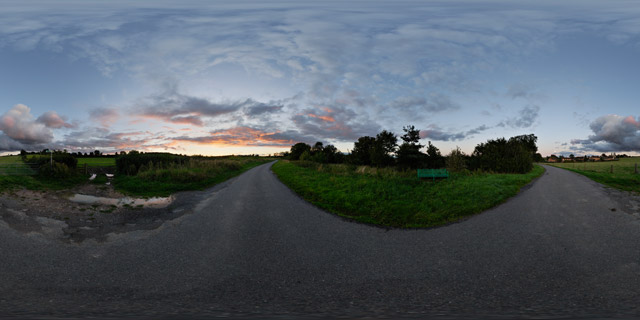 Lubenham Road at twilight 2 360° Panorama