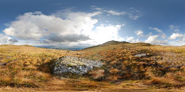 Meall Fuar-mhonaidh – autumn grass 360° Panorama