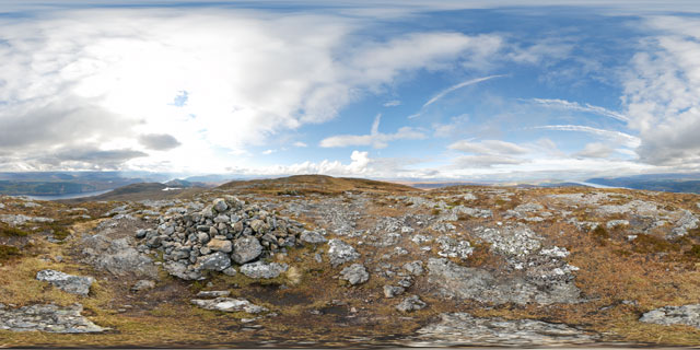 Meall Fuar-mhonaidh – highest minor summit 360° Panorama