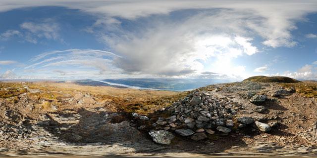 Meall Fuar-mhonaidh – minor summit 360° Panorama