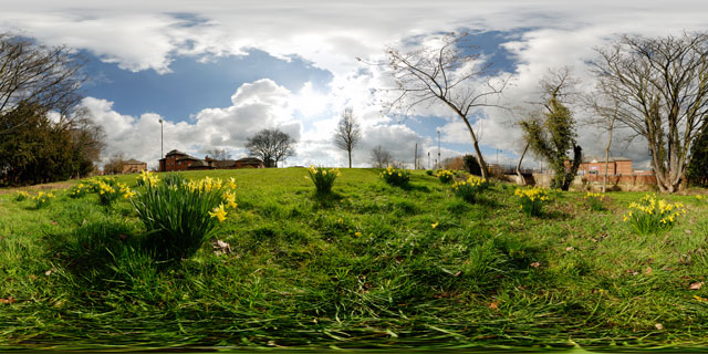 Millennium Mile in Spring, Market Harborough 360° Panorama