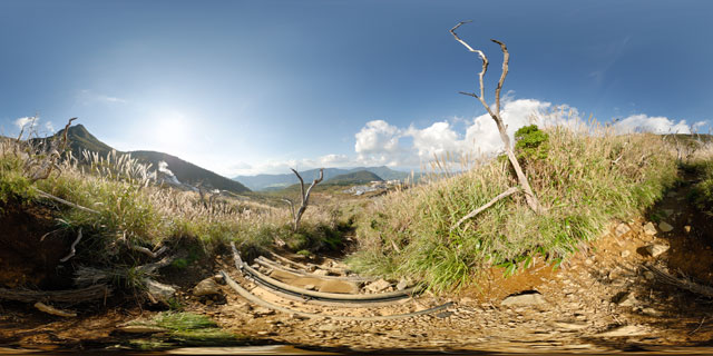 Mountain path, Hakone 360° Panorama
