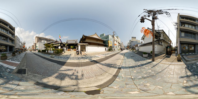 Nara – Street outside Jokyoji Temple 360° Panorama