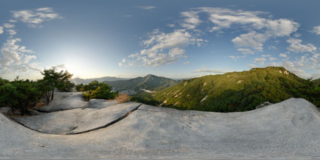 North of minor peak on Buramsan 360° Panorama