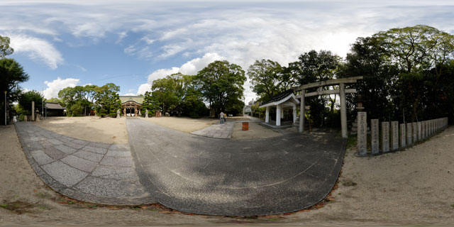 Ōe Shrine, Osaka 360° Panorama