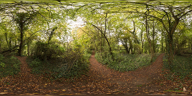 Old railway line between Harborough & Lubenham 360° Panorama