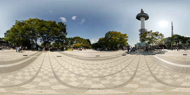 Outside the N Seoul Tower 360° Panorama