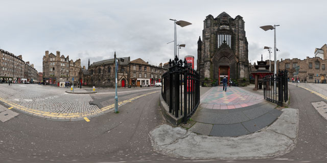 Outside The Hub, Edinburgh 360° Panorama