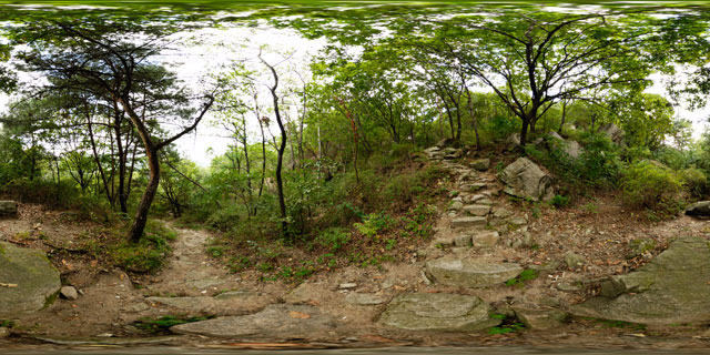 Path up Buramsan 360° Panorama