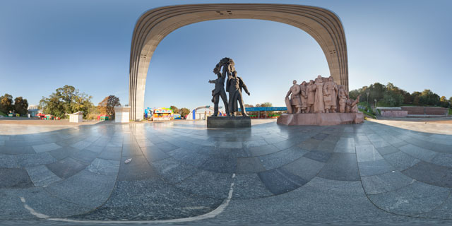 People's Friendship Arch, Kiev 360° Panorama