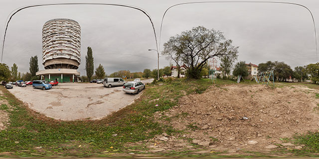 Romashka Tower, Chișinău (Corn cob building) 360° Panorama