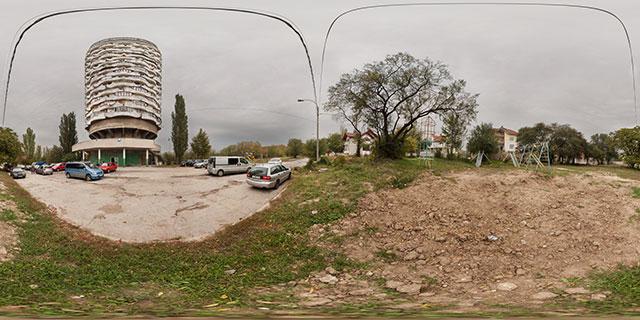 Romashka Tower, Chișinău (Corn cob building) 360° Panorama