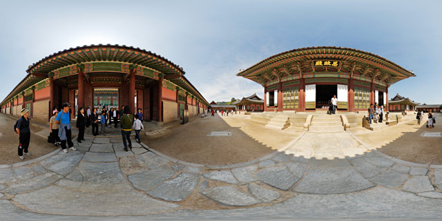 Sajeongmun Gate and Sajeongjeon Hall 360° Panorama