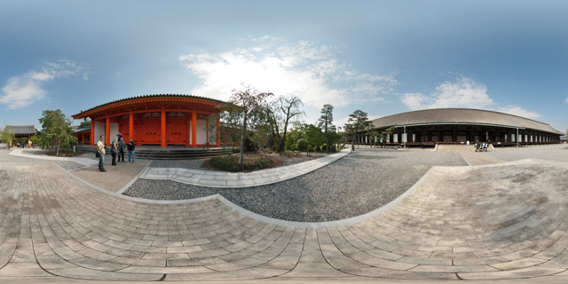 Sanjusangen-do Temple, Kyoto 360° Panorama