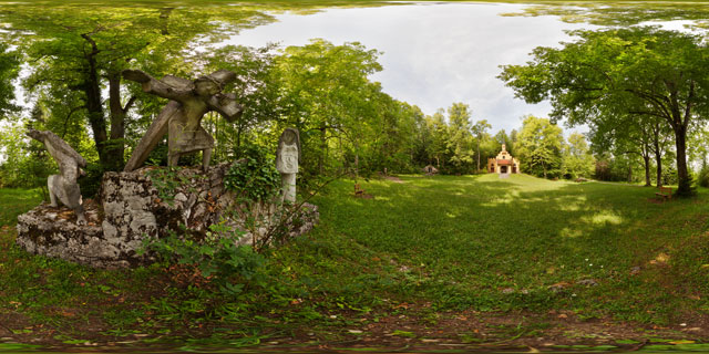 Sculptures near St. Mary's Chapel, Kalvarienberg, Füssen 360° Panorama