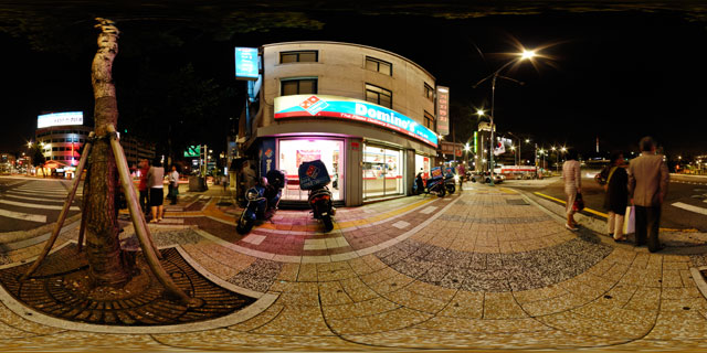 Seoul at night – Domino's Pizza Myeong-dong 360° Panorama