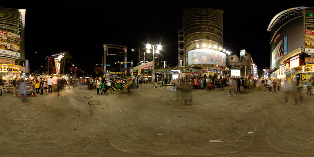 Seoul at night – Migliore Myeong-dong 360° Panorama