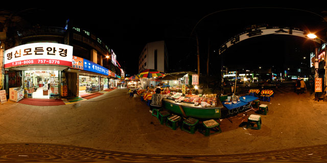 Seoul at night – Namdaemun Market Gate 6 360° Panorama